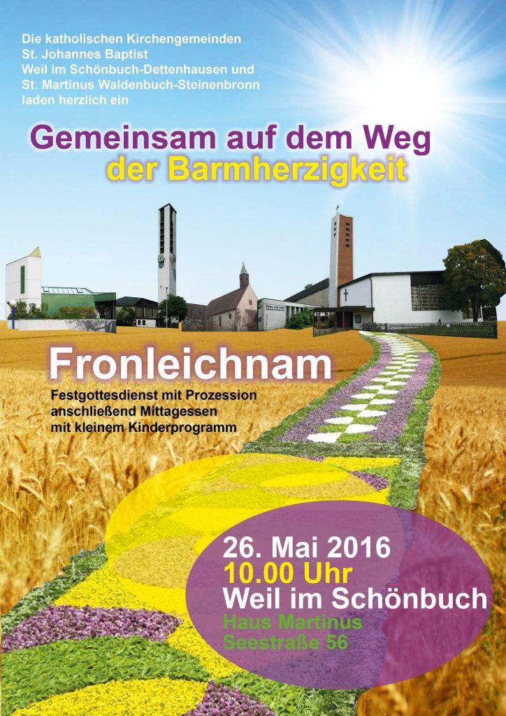 Plakat Fronleichnam 2016